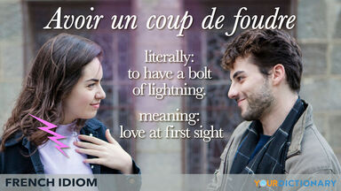 french idiom of love at first sight